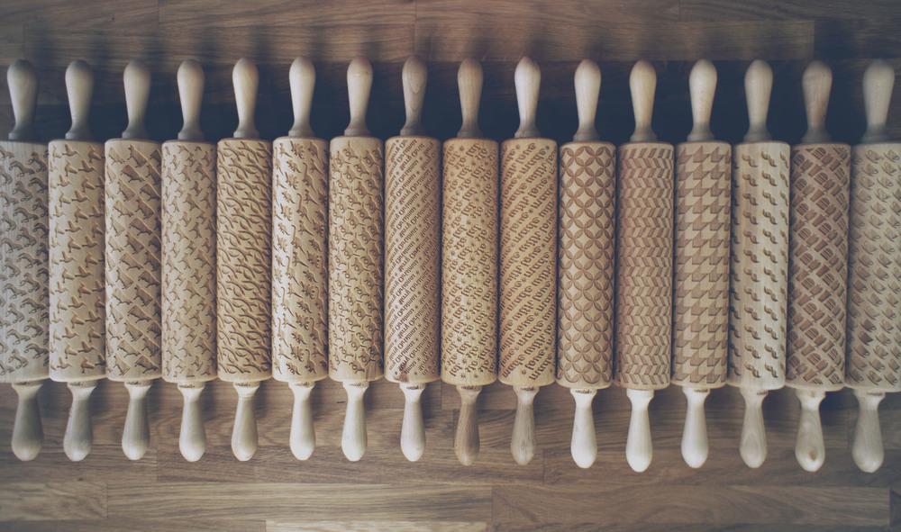 rouleaux pâtisserie bois