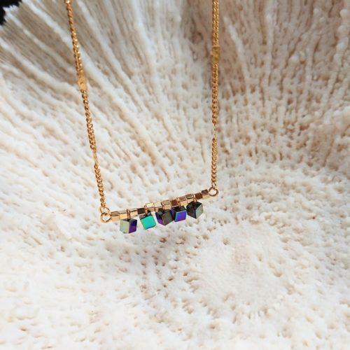 Collier hématite rainbow
