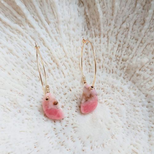 Créoles opale rose