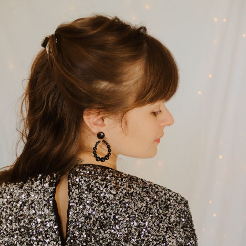 Boucles d'oreilles Suzy - Noires